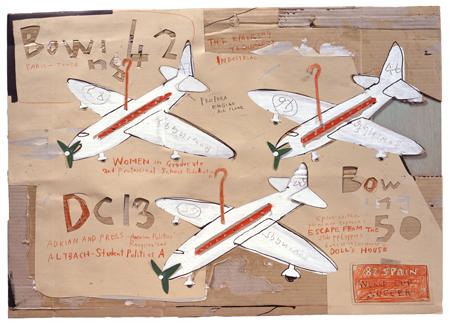 日比野克彦≪PRESENT AIRPLANE≫ 1982年 岐阜県美術館蔵