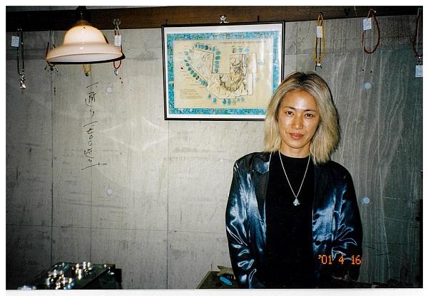 ブリーチをして金髪だったころ(2001年撮影、宮尾さん提供)
